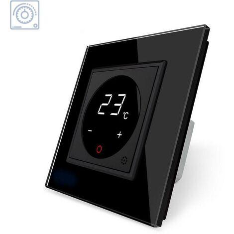 Termostato digital, negro