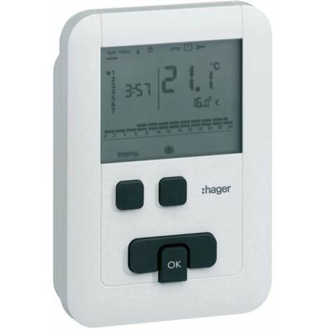 Termostato digital programable HAGER EK570 eco