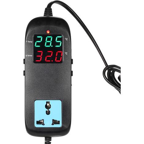 Termostato electronico, controlador de temperatura de cria, con enchufe,CA 90V¡«250V
