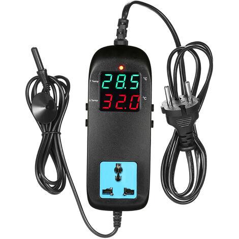 Termostato electronico, controlador digital de temperatura de cria, con enchufe,CA 90V¡«250V