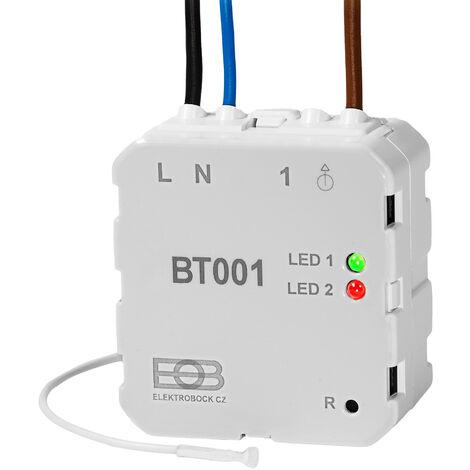 Termostato empotrable de radiofrecuencia BT001 - termostato para calefacción, termostato para encender calefactores infrarrojos, regulador de temperatura de estufa eléctrica - blanco