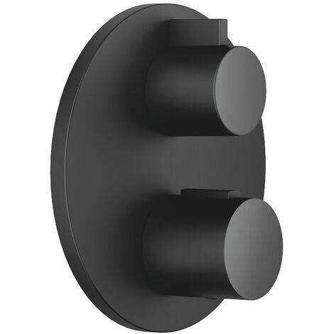 Termostato empotrado de Dornbracht con regulación de volumen bidireccional, kit de instalación final, 36426970, color: Negro Mate - 36426970-33