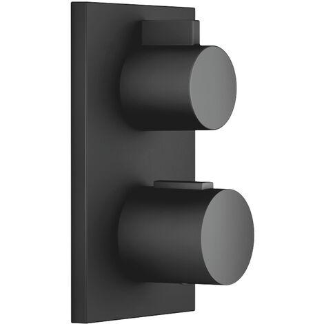 Termostato empotrado de Dornbracht con regulación de volumen unidireccional 36425670, kit de montaje final, color: Negro Mate - 36425670-33