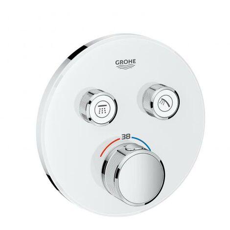 Termostato Grohe Grohtherm SmartControl con dos válvulas de cierre, roseta de pared redonda, blanco luna - 29151LS0