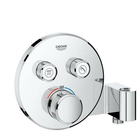 Termostato Grohe Grohtherm SmartControl con dos válvulas de cierre, soporte de ducha integrado, roseta de pared redonda - 29120000