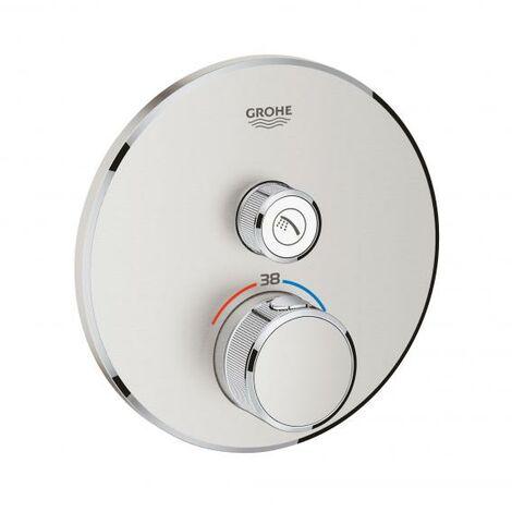 Termostato Grohe Grohtherm SmartControl con una válvula de cierre, roseta de pared redonda - 29118000
