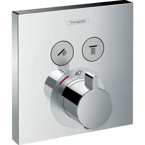 Termostato Hansgrohe ShowerSelect, empotrado, 2 consumidores, 15763, color: cromado - 15763000