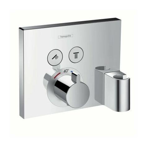 Termostato Hansgrohe ShowerSelect, empotrado, 2 consumidores, 15765000, cromado - 15765000