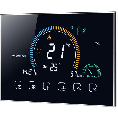 Termostato inteligente con Wi-Fi de 95-240 V, termostato programable 5 + 1 + 1 Seis periodos