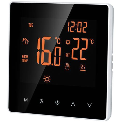 Termostato inteligente, controlador de temperatura digital, 16A,Luz de fondo naranja(no se puede enviar a Baleares)