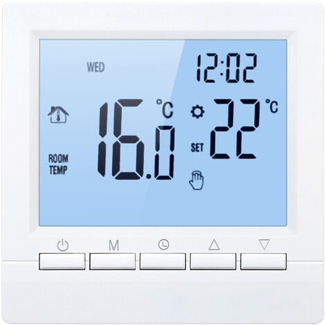Termostato inteligente, controlador de temperatura digital, 16A