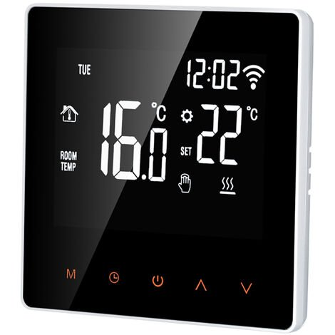 Termostato inteligente, controlador de temperatura digital, 16A,Retroiluminacion blanca
