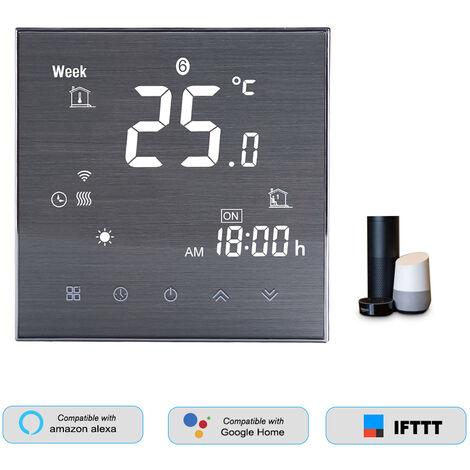 Termostato inteligente WiFi BTH-2000L-GBLW, para calefaccion electrica