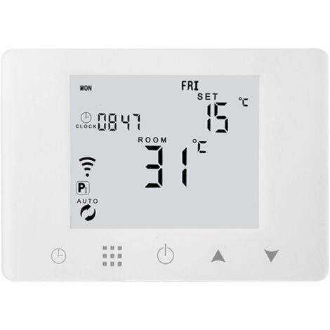 Termostato inteligente WiFi Teléfono Control remoto LCD 5A Caldera de gas montada en la pared Controlador de temperatura de calefacción de suelo de agua eléctrico