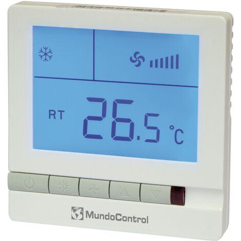 Termostato para fancoil pantalla retroiluminada Mundocontrol -Disponible en varias versiones