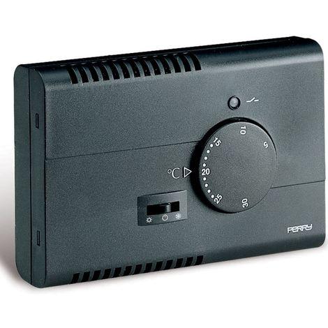 Termostato para pared electrónica negro cm 7,5x2,9x11,15 Perry 1TPTE122/A