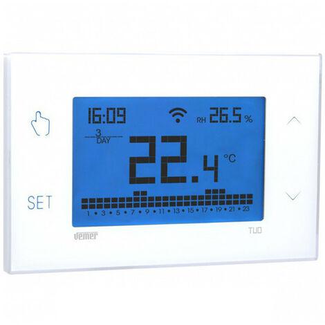 Termostato programable de la Pantalla Táctil Wi-Fi Vemer TU muro VE772000