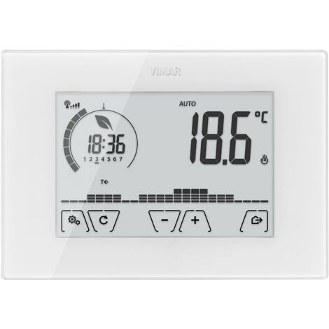 Termostato programable Vimar Clima Chrono touch WiFi pared blanca 02911