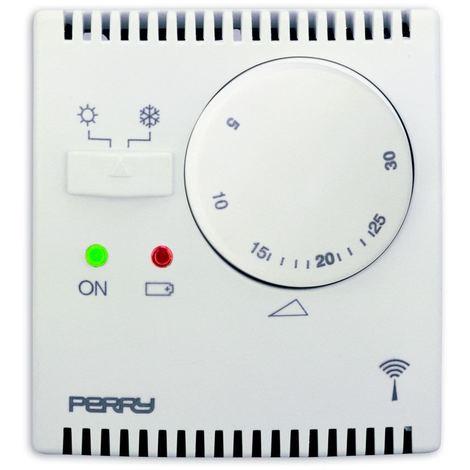 """main image of """"Termostato wireless per parete bianco Perry 1TXTETX03"""""""