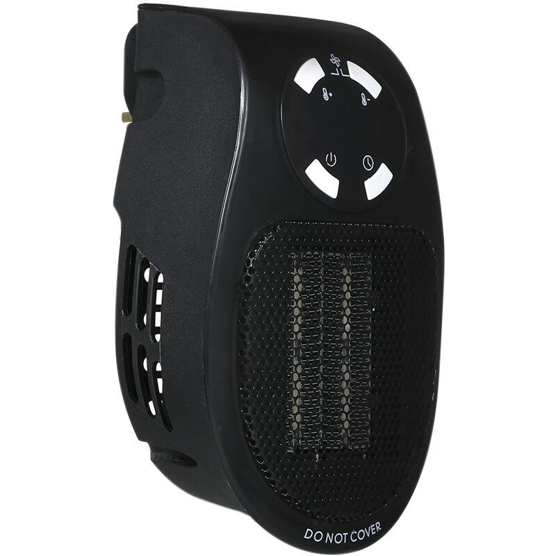 Happyshopping Termoventilatore da 5 W Riscaldatore elettrico Mini Termoventilatore con telecomando regola