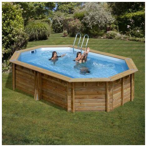 Piscina Gre Ovalada De Madera Sunbay Pool Cannelle 783335E 5.51 Mts X 3.51 Mts X 1.19 Mts De Alto