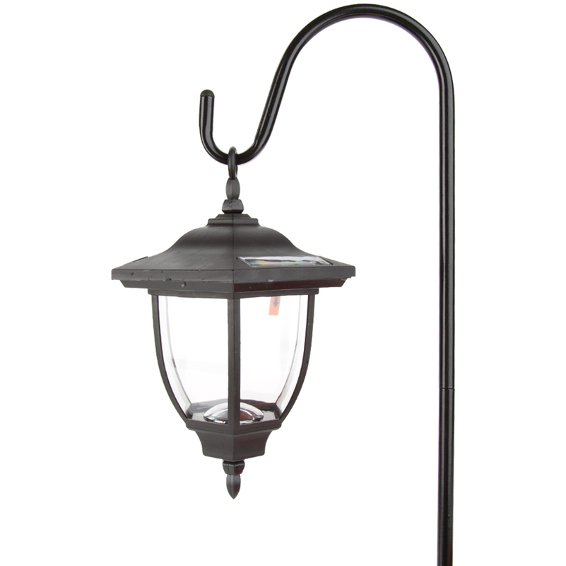 Light Stand Ground: Terrace Outdoor Garden Solar Powered Hanging Lantern With