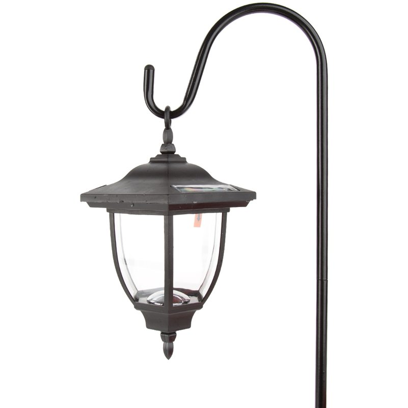 Outdoor Hanging Lanterns With Stand: Terrace Outdoor Garden Solar Powered Hanging Lantern With