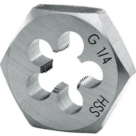 Terraja hexagonal, BSP, hilo : G 3/4 pulgadas, 14/pulgadas, Cote s/planas x altura 50 x 16 mm