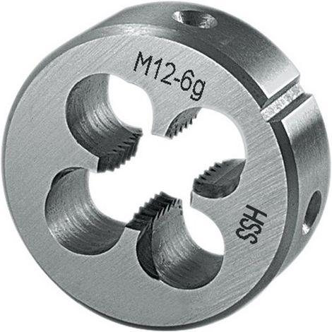 Terraja, rosca métrica, acero de corte rápido hilo : M10, Paso 1,50 mm, Ø exterior x altura 30 x 11 mm