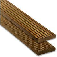 Terrassendiele Nadelholz kdi braun 28 x 145 mm Länge 300 cm