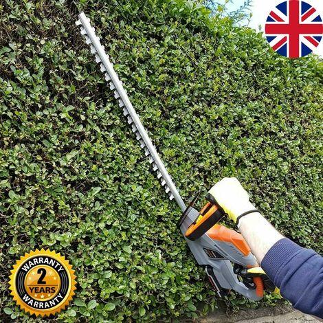"main image of ""Terratek 20V Cordless Electric Hedge Trimmer Lightweight Garden Handheld Cutter 1 Hour Charge"""