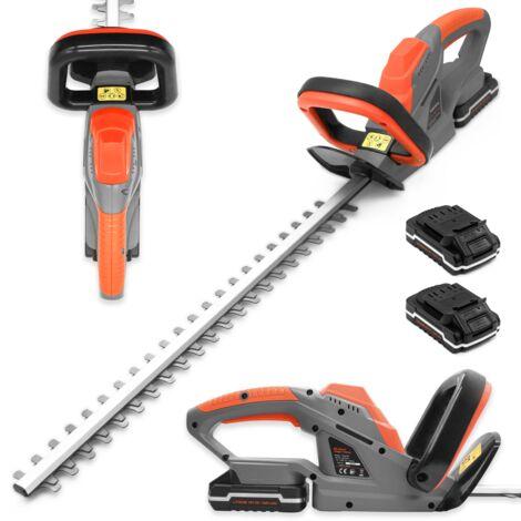 "main image of ""Terratek 20V Cordless Electric Hedge Trimmer Lightweight Garden Handheld Cutter Includeds 2 Batteries"""