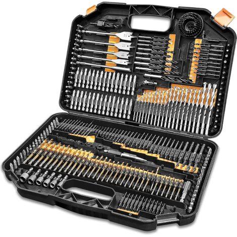 """main image of """"Terratek 246pc Combination Drill Bit Set, HSS Titanium Twist Drill bits, Masonry Drill Bits, Wood Drill Bits, Screwdriver Bits & Storage case"""""""