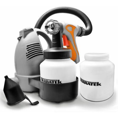 "main image of ""Terratek 650W Electric Hand Held Paint Sprayer, 2 x 800ml Paint Pots, Paint Fence Sprayer"""