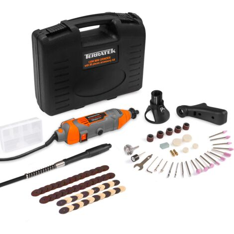 Terratek Rotary Multi Tool Kit 135W with 80pc Accessory Set & Storage Case, Variable Speed 8000-33000rpm, Ideal for DIY, Woodwork & Hobby Craft, Dremel Compatible