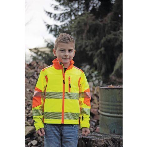 TERRATREND JOB Revolution Kinder-Softshelljacke, Gelb, Orange