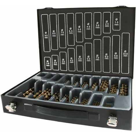TERRAX A214200 - Maletín-almacén brocas DIN 338 tipo N HSS rectificadas (170 piezas)