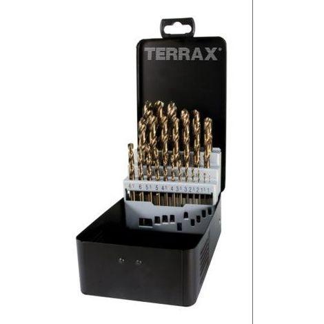 TERRAX-A215214 Juego brocas N HSS Co