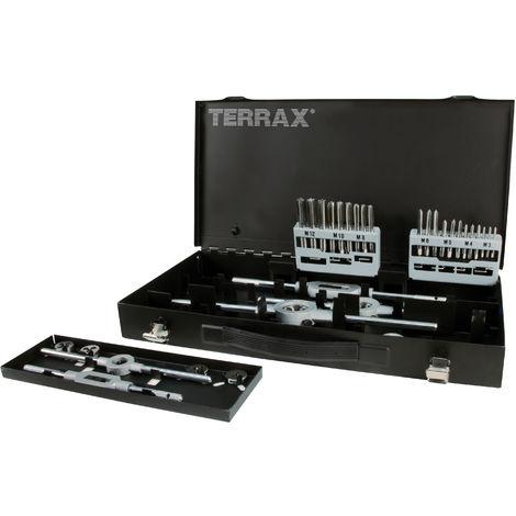 TERRAX A245020 - Juego herramientas de roscar 37 piezas - Estuche metálico