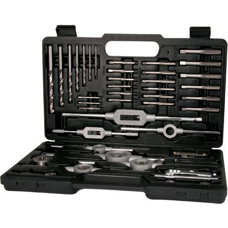 TERRAX A245021 - Juego herramientas de roscar 45 piezas - Estuche metálico