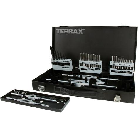 TERRAX A245030 - Juego herramientas de roscar 44 piezas - Estuche metálico