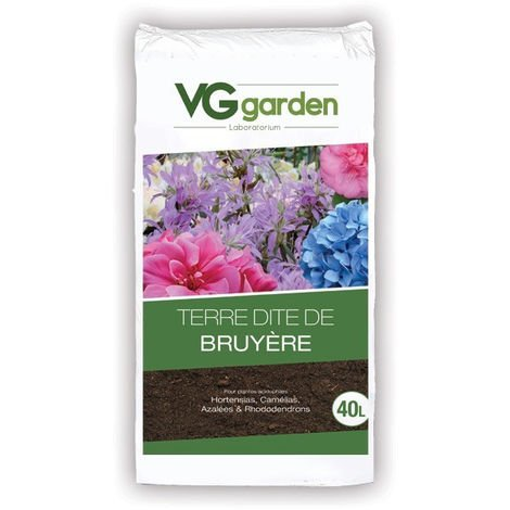 Terre de Bruyère avec engrais - 40L - VG Garden