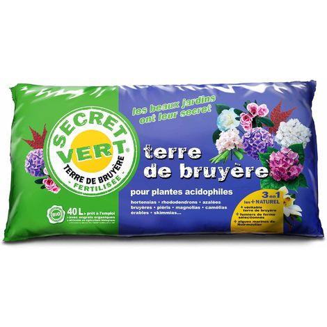 Terre de bruyère bio pour plantes acidophiles 40 litres 40 litres