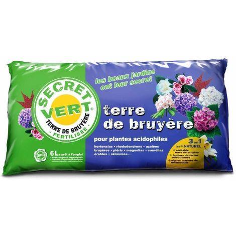 Terre de bruyère bio pour plantes acidophiles 6 litres