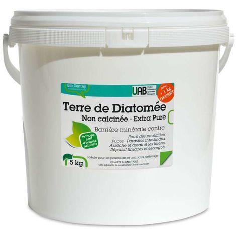 Terre de diatomée alimentaire spéciale poulaillers et élevage. 5 kg