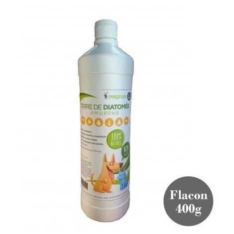 Terre de diatomée blanche alimentaire 100% naturel en flacon de 400G