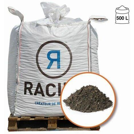 Terre végétale enrichie de compost calibre 0-15 big bag 500 litres