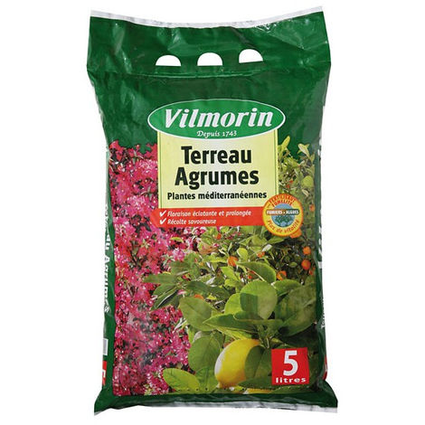 Terreau agrumes Vilmorin sac de 5 litres