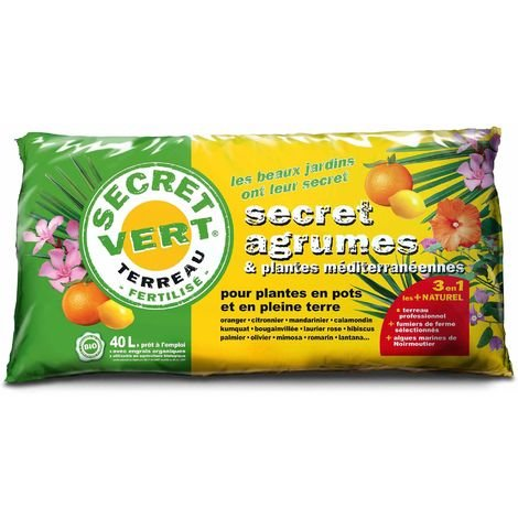 Terreau bio pour agrumes et plantes méditerranéennes 40 L 40 litres