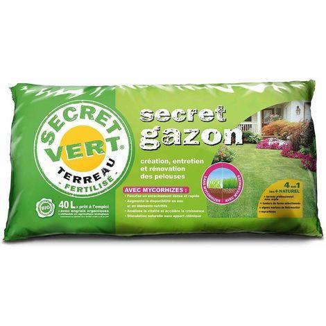 Terreau création et entretien pelouse avec mycorhizes 40 litres Unitaire